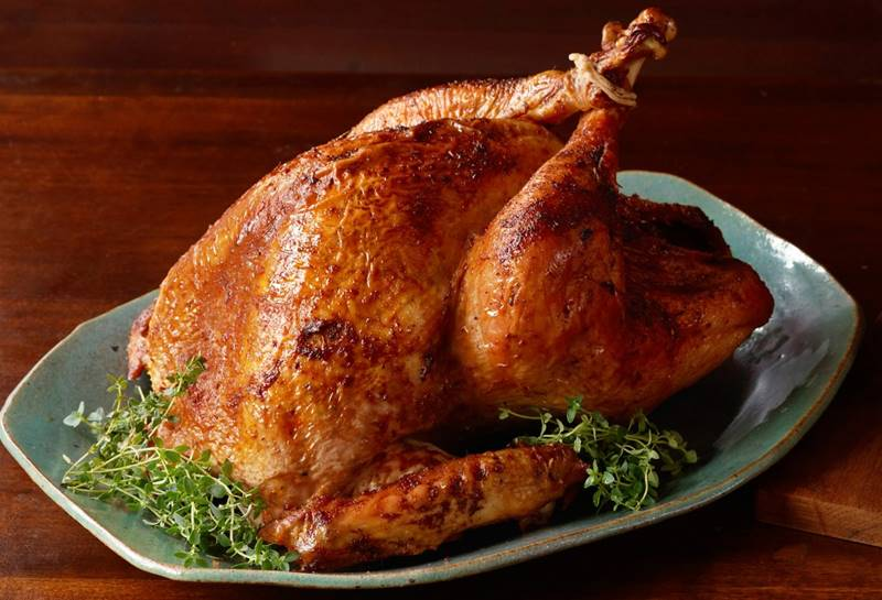 ROAST CHICKEN WITH BUTTER AND BOURBON