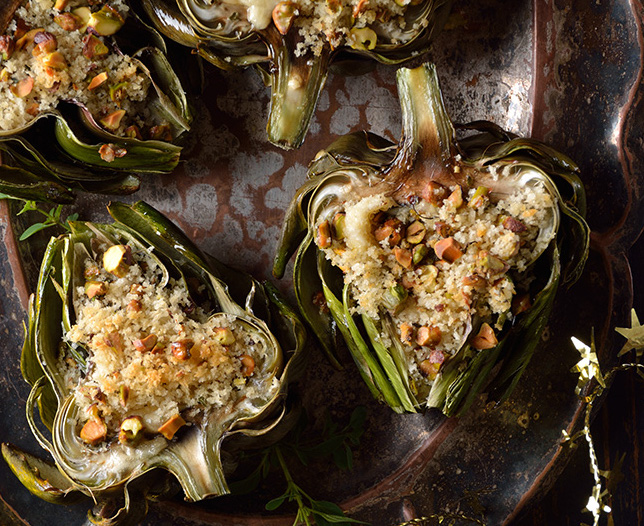 STUFFED OVEN ROASTED ARTICHOKES