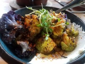 cauliflower roasted with couscous