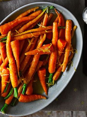 GINGER-ORANGE GLAZED CARROTS
